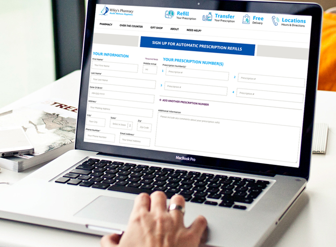 Sign up for Wiley's automatic prescription refill today