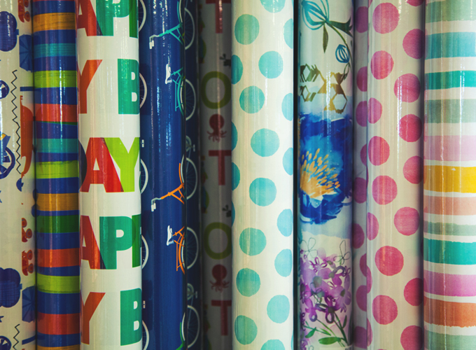 Find gifts, wrapping paper, and more at Wiley's gift shop