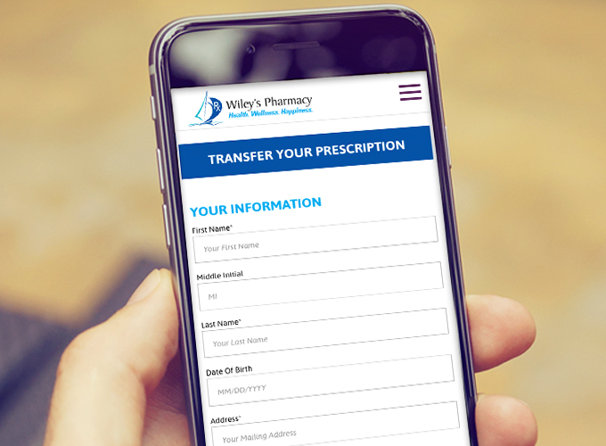 We make prescription transfers easy at Wiley's Pharmacy