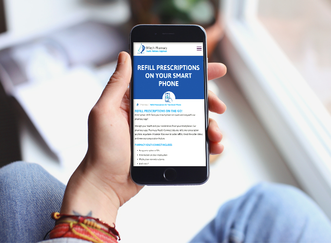 Prescription refills are quick and easy with Wiley's pharmacy app