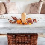 Cozy living room with fall decorating ideas